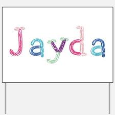 Jayda Princess Balloons Yard Sign