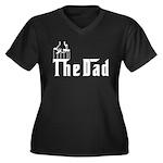 Fun The Dad Women's Plus Size V-Neck Dark T-Shirt