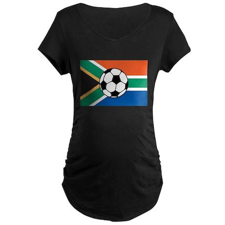 South Africa Soccer Maternity Dark T-Shirt