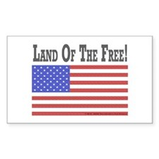 Land of the Free Sticker (Rectangle 10 pk)
