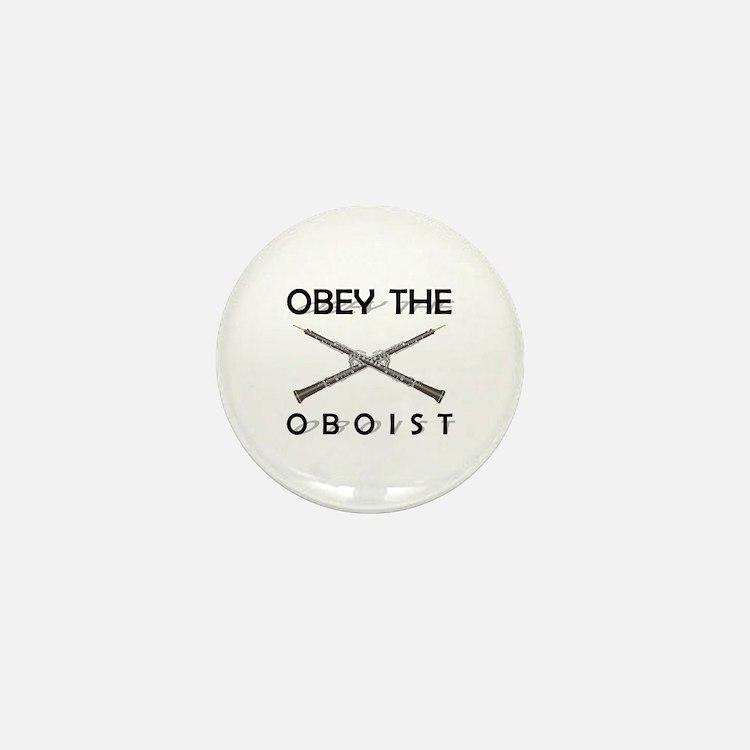 Obey the Oboist Mini Button