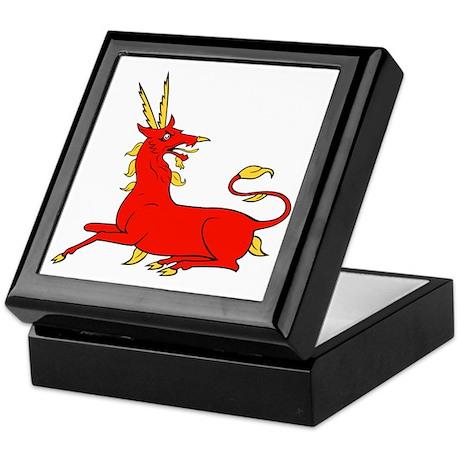 Fantasy antelope medieval art Keepsake Box