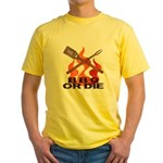 BBQ or Die Yellow T-Shirt