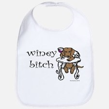 Winey Dachshund Bib