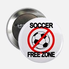 "Soccer Free Zone 2.25"" Button"