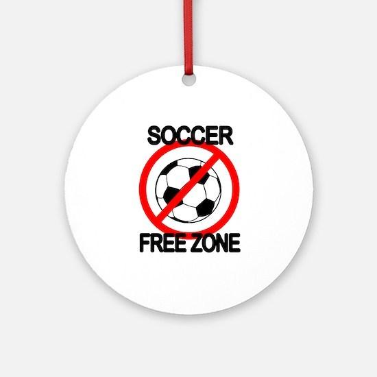 Soccer Free Zone Ornament (Round)