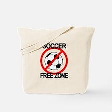 Soccer Free Zone Tote Bag
