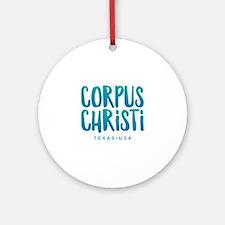 Corpus Christi Round Ornament