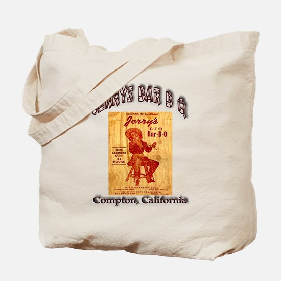 Jerrys Bar B Q Tote Bag