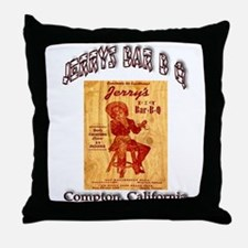 Jerrys Bar B Q Throw Pillow