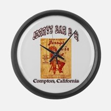 Jerrys Bar B Q Large Wall Clock