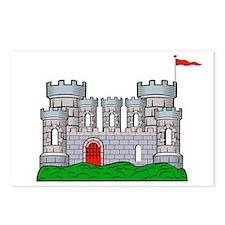 Fantasy medieval castle Postcards (Package of 8)