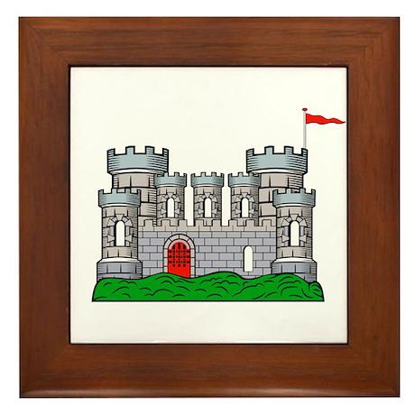 Fantasy medieval castle Framed Tile