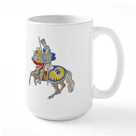 Fantasy medieval castle Large Mug