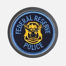 Federal Reserve Police Wall Clock