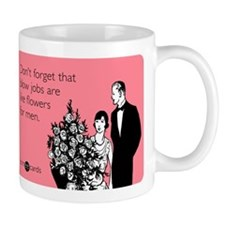 Blow Jobs Flowers Mug