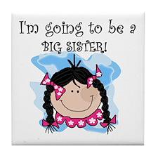 Future Big Sister (Black) Tile Coaster