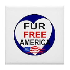 Cute Fur free Tile Coaster