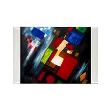 Abstract 3 Rectangle Magnet