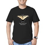 Tiger Swallowtail Men's Fitted T-Shirt (dark)