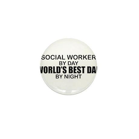World's Best Dad - Social Worker Mini Button