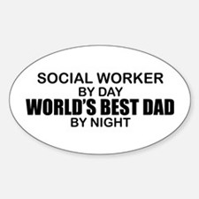 World's Best Dad - Social Worker Decal