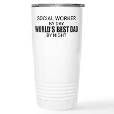 World's Best Dad - Social Worker Travel Mug