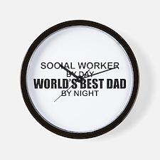 World's Best Dad - Social Worker Wall Clock