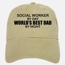 World's Best Dad - Social Worker Baseball Baseball Cap