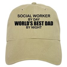 World's Best Dad - Social Worker Baseball Cap
