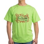 I Saw Eclipse before 6.30.10 Green T-Shirt