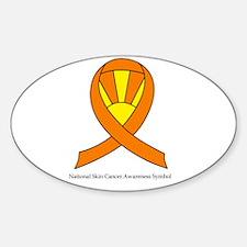 National Skin Cancer Awarenes Sticker (Oval)