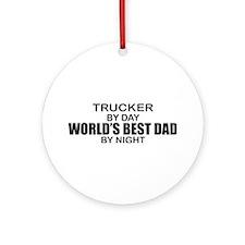World's Best Dad - Trucker Ornament (Round)