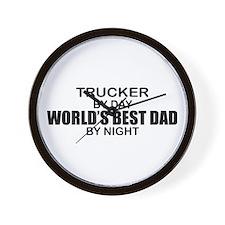 World's Best Dad - Trucker Wall Clock