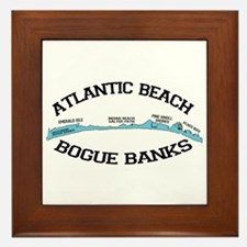 Atlantic Beach NC - Map Design Framed Tile