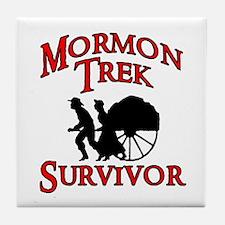 Mormon Trek Survivor Tile Coaster