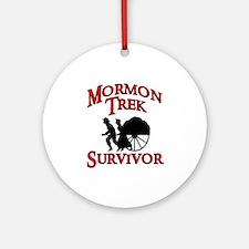 Mormon Trek Survivor Ornament (Round)