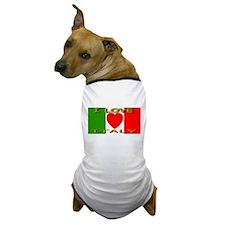 I Love Italy Heart Flag Dog T-Shirt