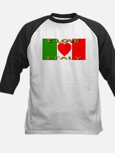 I Love Italy Heart Flag Tee