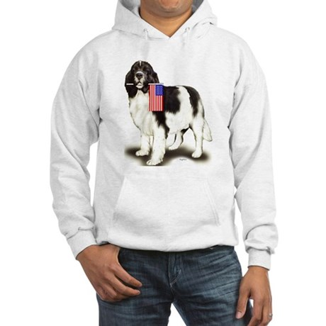 Landseer with flag Hooded Sweatshirt