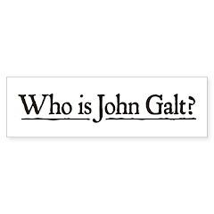 Who is John Galt? Sticker (Bumper 10 pk)