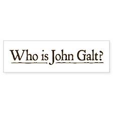 Who is John Galt? Bumper Sticker