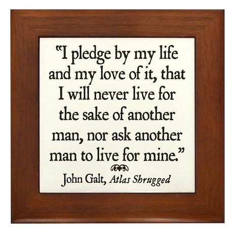 Galt Pledge Framed Tile