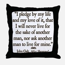 Galt Pledge Throw Pillow
