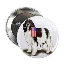 Landseer with flag Button