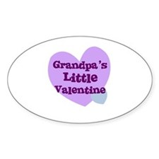 Grandpa's Little Valentine Oval Decal