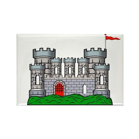 Medieval knight's castle Rectangle Magnet (10 pack