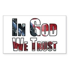 In God We Trust Sticker (Rectangle)