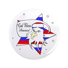 American Eagle Christian Button