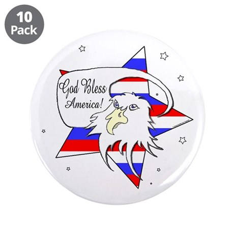 """American Eagle Christian 3.5"""" Button (10 pack)"""